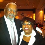 Corliss Udoema with Mr. Jim Vance.