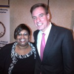 Corliss Udoema with Senator Mark Warner