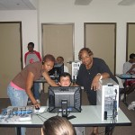 Corliss Udoema facilitating Computers Classes for Boys and Girls Club