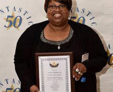 Corliss Udoema Accepts Virginia Chamber of Commerce Fantastic 50 Award