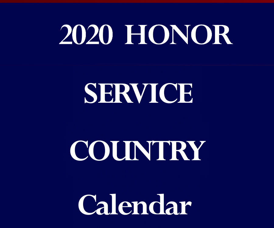 Order the 2020 Veterans Calendar - Shipped to Your Address